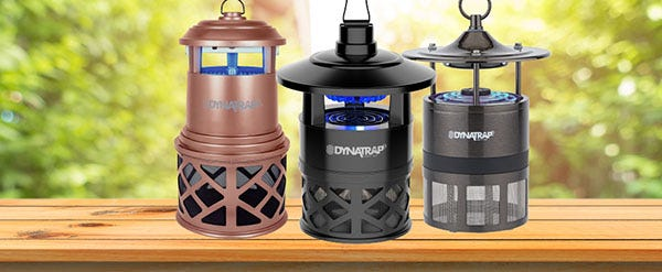 A collection of DynaTrap Mosquito Traps