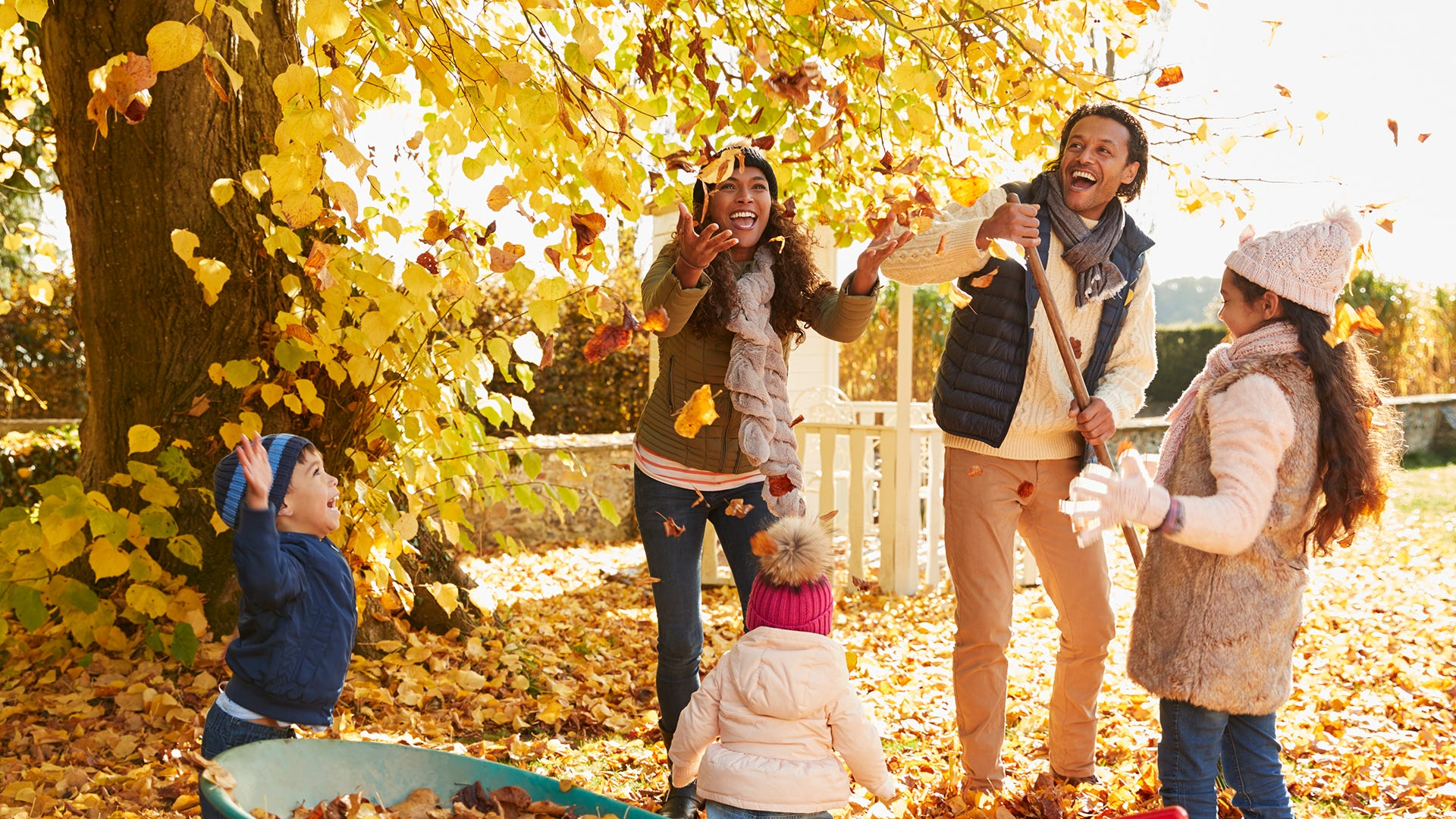 outdoor family in the fall