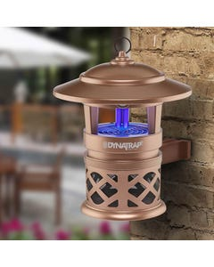 DynaTrap® ½ Acre Mosquito & Insect Trap with Optional Wall Mount & 2 Spare  Bulbs - Copper